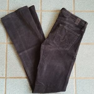AG Angel Faded Black Cords Corduroy Jeans 26 R